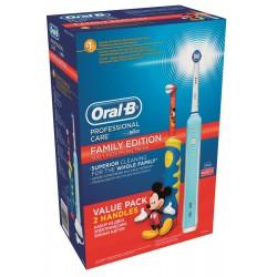 Zestaw rodzinny 2 szczoteczki elektryczne: Oral B 500 + Kids Myszka Miki , Braun