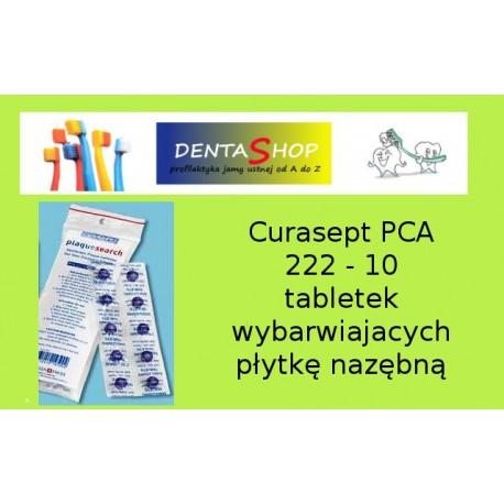 Curasept PCA 222 - 10 tabletek wybarwiajacych płytkę nazębną