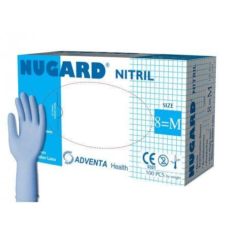 Rękawice NIYTRYL, bezpudrowe NUGARD, 100 sztuk