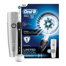 Braun Oral B PRO 750 Black Cross Action - Różowa szczoteczka elektryczna - Edycja Limitowana