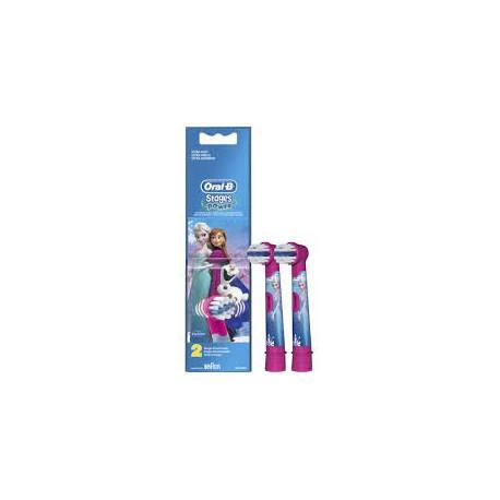 BRAUN ORAL-B Stages Power Frozen - Końcówki do szczoteczki elektrycznej dla dzieci Kraina Lodu 2szt Frozen