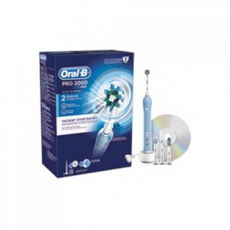 Braun Oral B PRO 2000 - Elektryczna szczoteczka do zębów z 4 końcówkami D20.543.2M