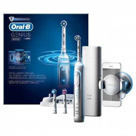 BRAUN Oral-B Genius 8000 White - Nowoczesna szczoteczka elektryczna D701.535.5XC