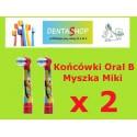 Końcówki Braun do szczoteczki elektrycznej dla dzieci Oral B Kids Myszka Miki