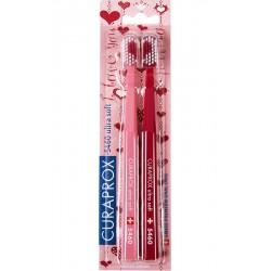 Curaprox CS 5460 Ultra Soft, Dwupak Valentine- Zestaw dla zakochanych